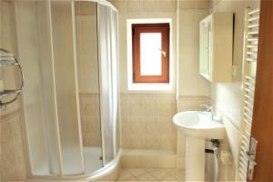 Kúpeľňa v ubytovaní Privát Hriadky