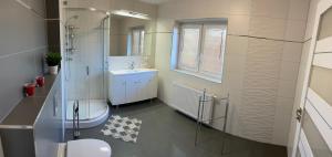 A bathroom at Apartamenty Starowiejska