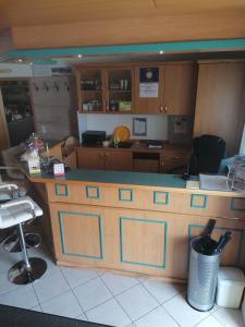Küche/Küchenzeile in der Unterkunft Hotel Harbauer