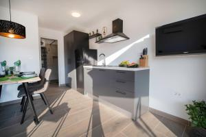 A kitchen or kitchenette at SUNSET APARTMENTS RABAC