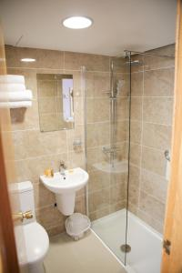 A bathroom at Mount Errigal Hotel, Conference & Leisure Centre