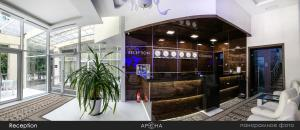 The lobby or reception area at Arena