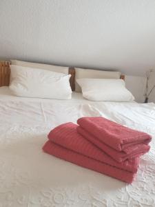 Ein Bett oder Betten in einem Zimmer der Unterkunft Apartment am Stadtsee