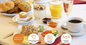Breakfast options available to guests at Drei Kronen Hotel Wien City