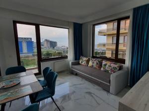 O zonă de relaxare la Mamaia Summerland Apartments