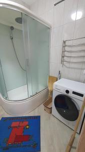 A bathroom at комфортные евродвушки