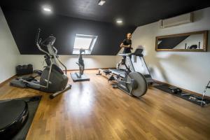 Het fitnesscentrum en/of fitnessfaciliteiten van Mercure Bords de Loire Saumur