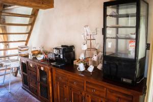 Kuchyň nebo kuchyňský kout v ubytování Zámek Nový Hrad