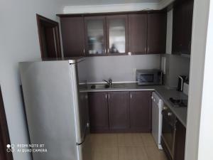 A kitchen or kitchenette at ARENA Apart Complex