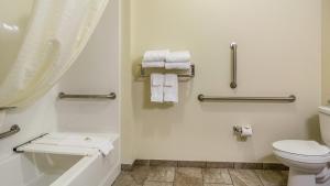 A bathroom at Cobblestone Hotel & Suites - Erie
