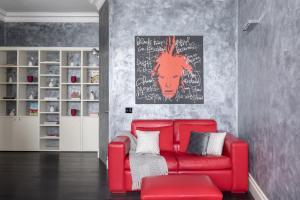 Area soggiorno di A Sparkle of Red in Trastevere