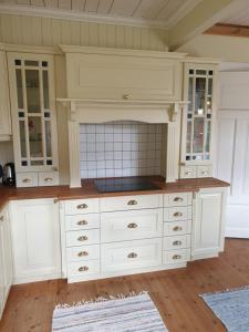 A kitchen or kitchenette at Irenegarden - Fjord view holiday home