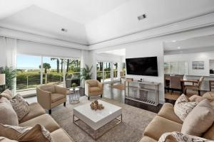A seating area at 7 Black Duck - Top Notch Views & Amenities in a Private Oceanfront Oasis