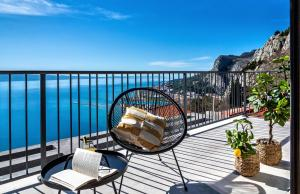 """A balcony or terrace at House Villa """"The View"""""""