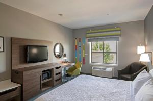 A television and/or entertainment centre at Hampton Inn by Hilton Kamloops