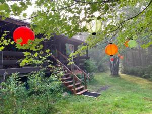 Ein Garten an der Unterkunft Vipilodge