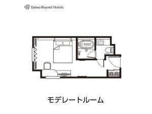 The floor plan of Daiwa Roynet Hotel Aomori