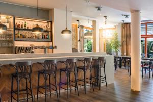 Lounge nebo bar v ubytování Hotel U Pramenu