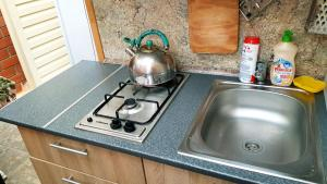 A kitchen or kitchenette at ЛУКОМОРЬЕ