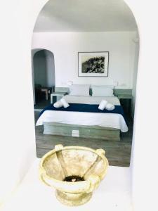 Salle de bains dans l'établissement Loucas on the Cliff