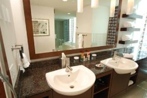 A bathroom at Greektown Casino-Hotel