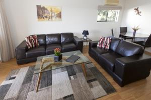A seating area at Allegra House