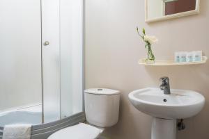 Tsentralnaya Hotel tesisinde bir banyo