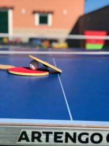 A billiards table at Apartments Antonia