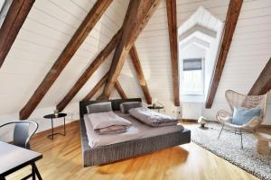 Ein Sitzbereich in der Unterkunft Apartment Sissi