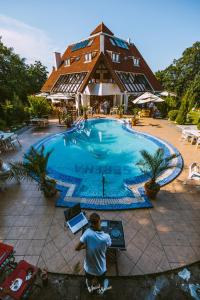 The swimming pool at or near Pensiunea Serena