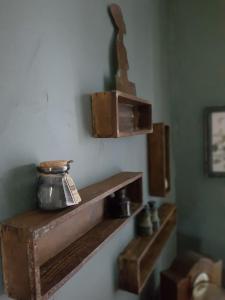 A kitchen or kitchenette at Les chambres d hôtes de Jalaine