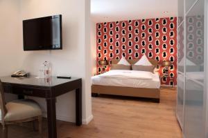Ein Bett oder Betten in einem Zimmer der Unterkunft Altes Zollhaus