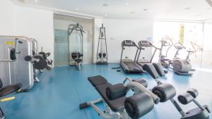 The fitness center and/or fitness facilities at Vrissaki Beach Hotel