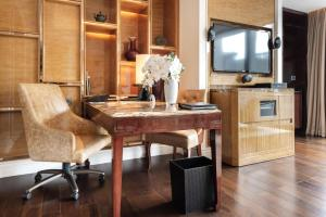 A television and/or entertainment center at The Ritz-Carlton, Chengdu