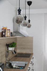 A kitchen or kitchenette at Apartman Relax