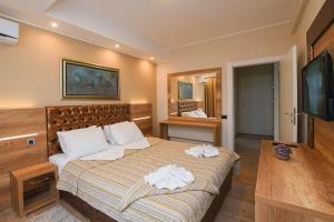 Krevet ili kreveti u jedinici u okviru objekta Hotel Djerdap