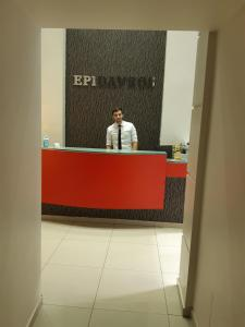 The lobby or reception area at Epidavros Hotel