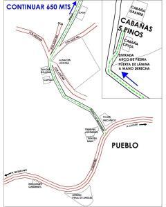 A bird's-eye view of Cabañas 5 Pinos