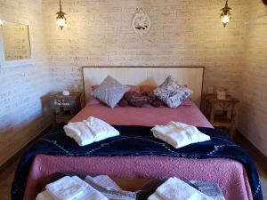 Cama ou camas em um quarto em Pousada Canto do Sabiá