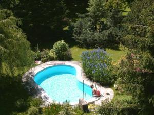Uitzicht op het zwembad bij Landhotel Eva of in de buurt
