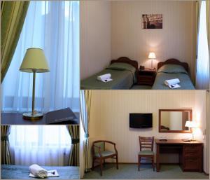 Кровать или кровати в номере Отель 9 Сов