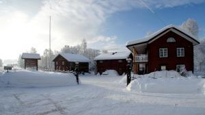 Mannflogården Bed & Breakfast under vintern