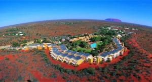 A bird's-eye view of The Lost Camel Hotel