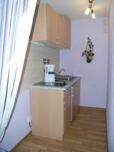 Küche/Küchenzeile in der Unterkunft Ferienwohnung Freund