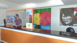 The lobby or reception area at Bella Natal Praia Hotel