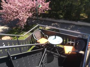 Ein Balkon oder eine Terrasse in der Unterkunft Vakantieverblijf Luxemburg