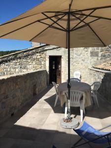 A balcony or terrace at Le Gîte De Babeth