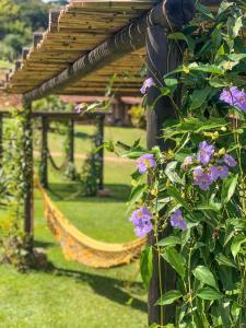 A garden outside Hotel Fazenda Santa Helena