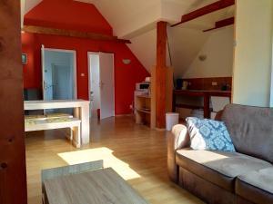 Een zitgedeelte bij Camping & Guest House Pliskovice