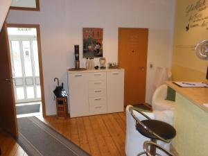 Küche/Küchenzeile in der Unterkunft Pension Am Werder